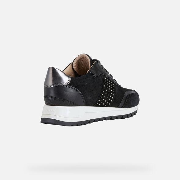 Proceso máscara teléfono  Geox TABELYA Woman: Black Sneakers | FW20/21 Geox®