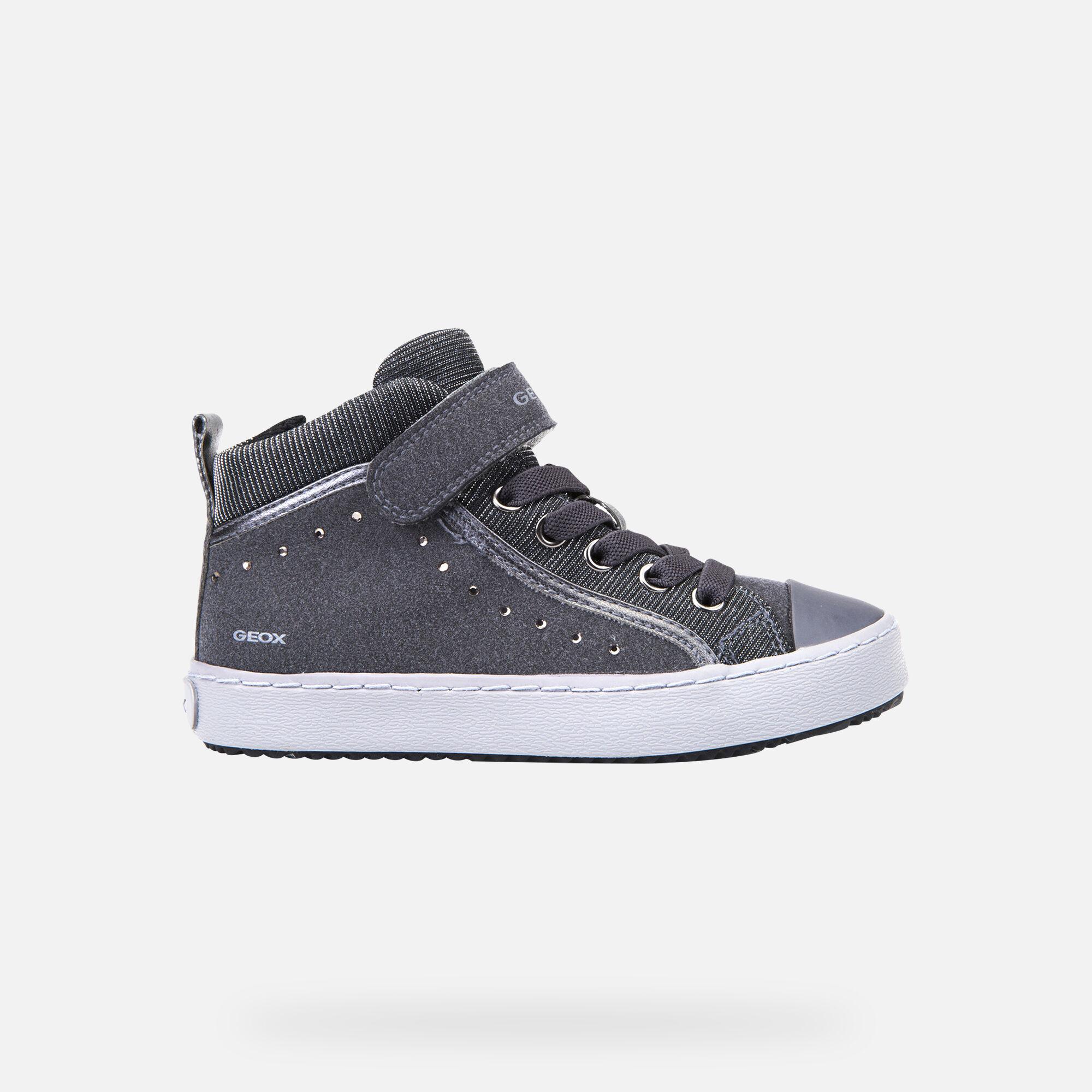 KALISPERA BIMBA Dark Grey | Sneakers Geox Bambina | FIOG