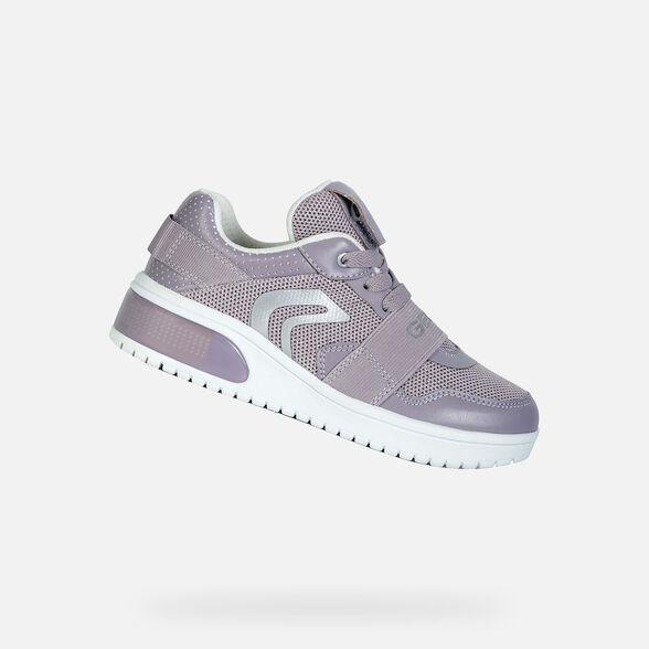 Dardos mariposa habla  Geox XLED GIRL Niña: Sneakers Violeta   Geox® Xled
