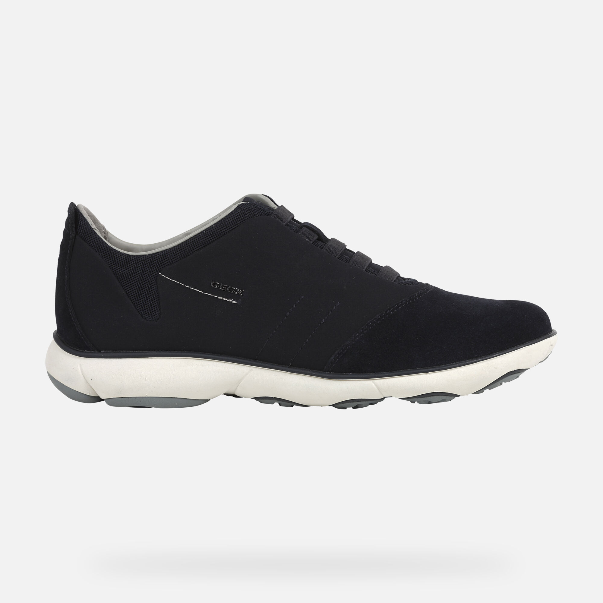 Details about Geox Nebula Mens Black Suede Mesh Shoes Size UK 6 12