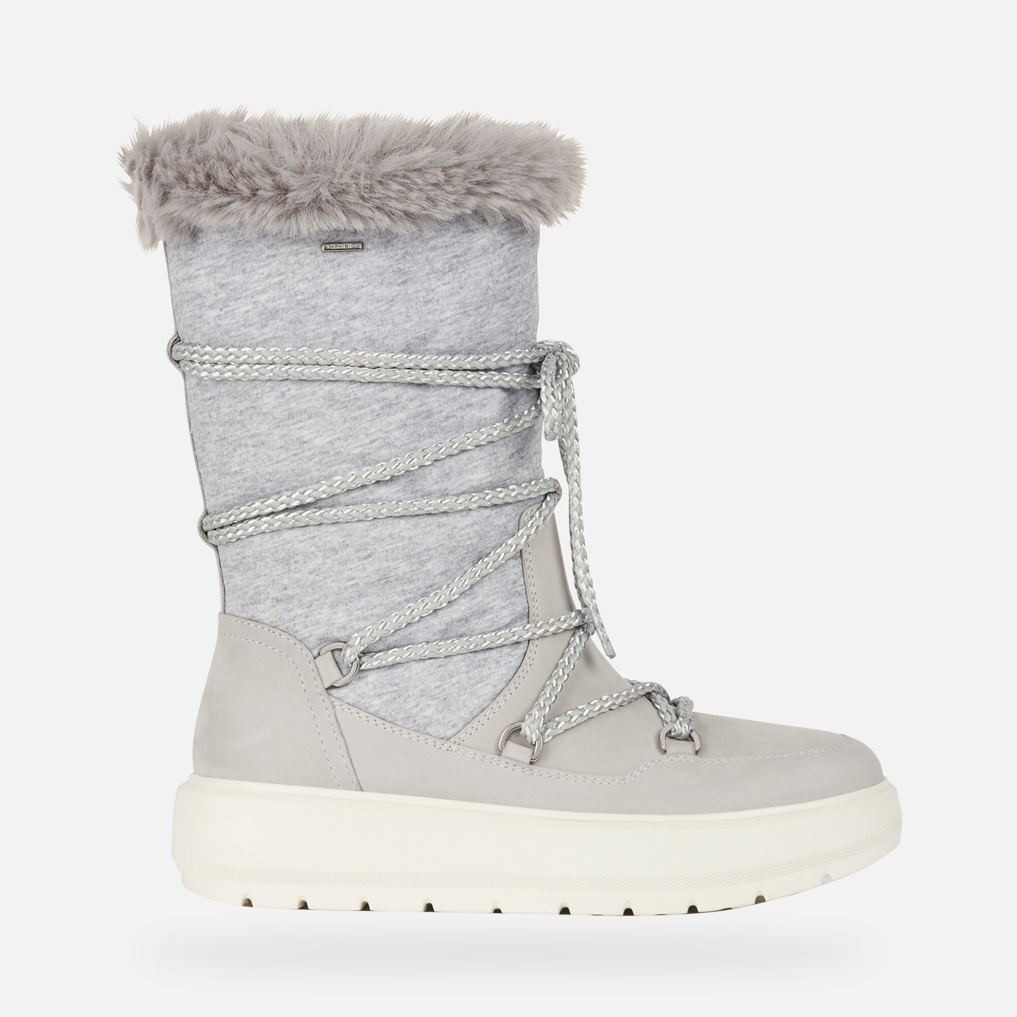 Geox KAULA B ABX Woman: Light grey Boots | Geox ® Official Store