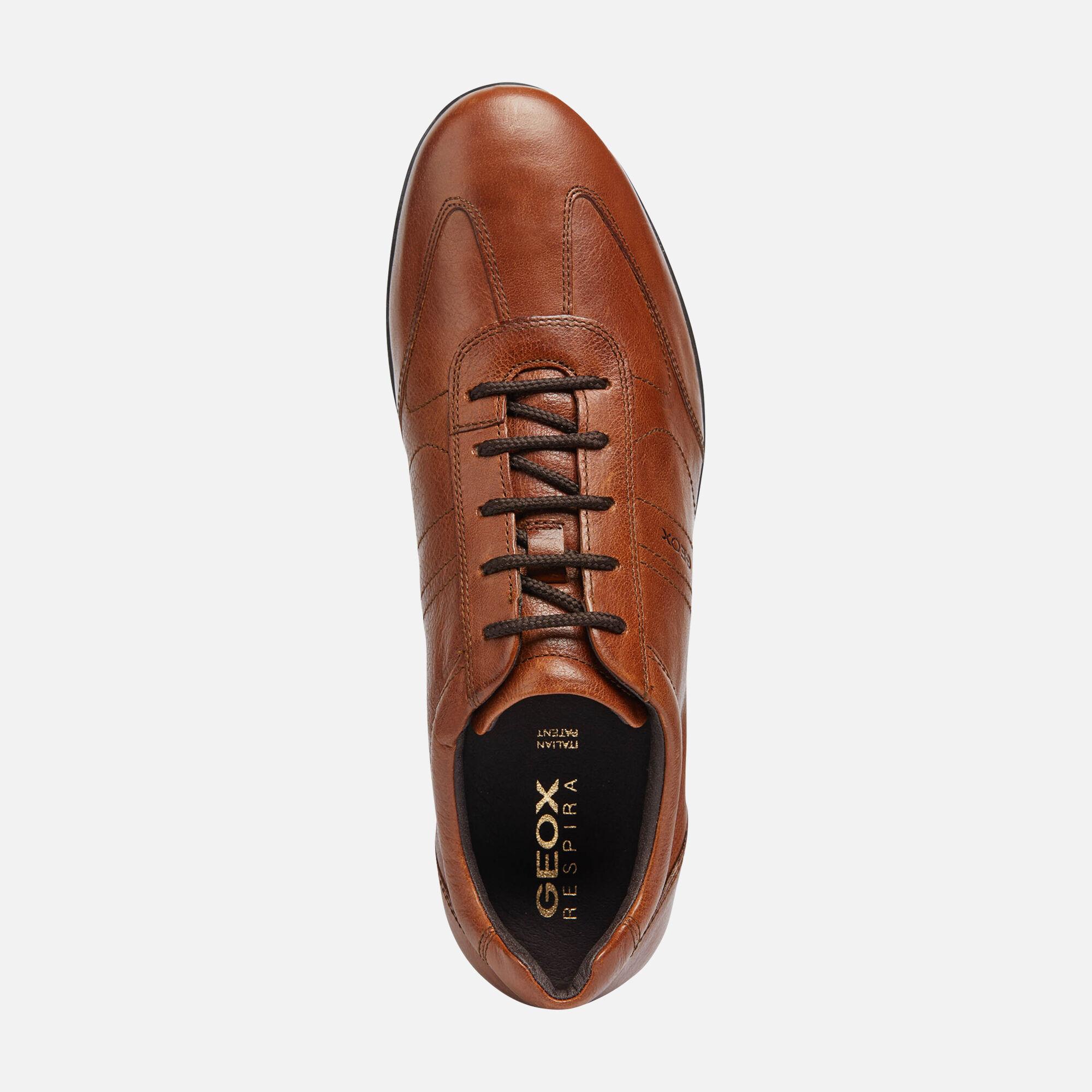 Geox UOMO SYMBOL Homme: Chaussures Marron brique   Geox® Store