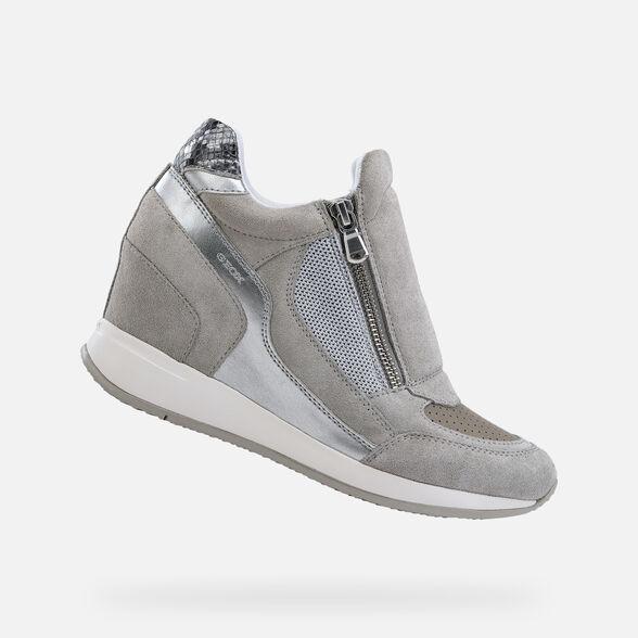 profiter de prix discount choisir le dernier grande vente au rabais Geox D NYDAME: Light Grey Woman Sneakers | Geox SS19