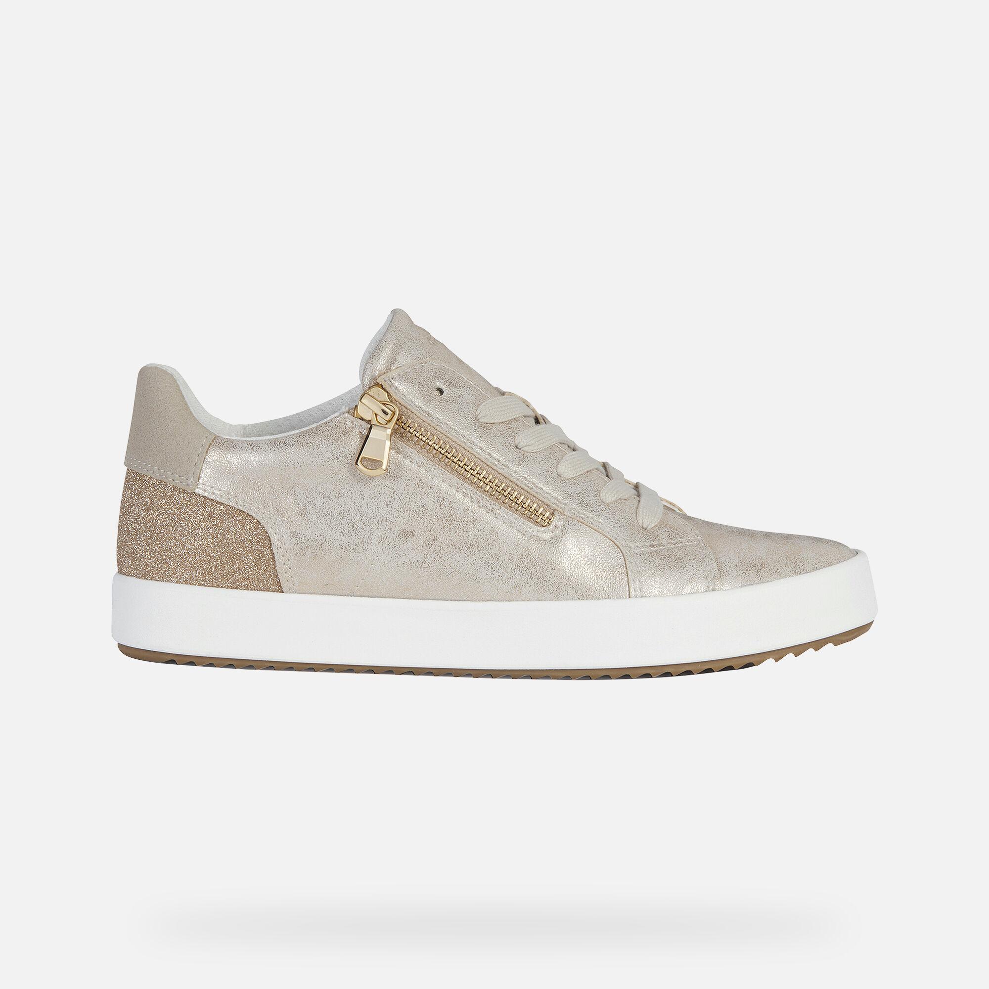 Geox BLOMIEE DAME: Hellgold Sneakers | Geox ® SS 20