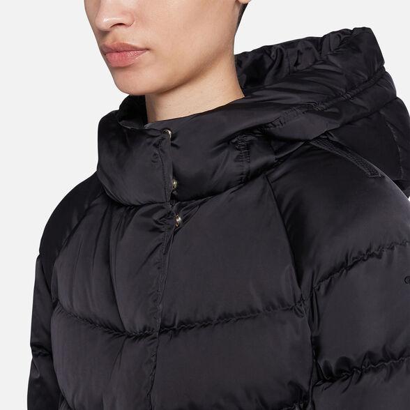 salir En respuesta a la mano  Geox CHLOO Woman: Black Down Jacket | Geox® FW20