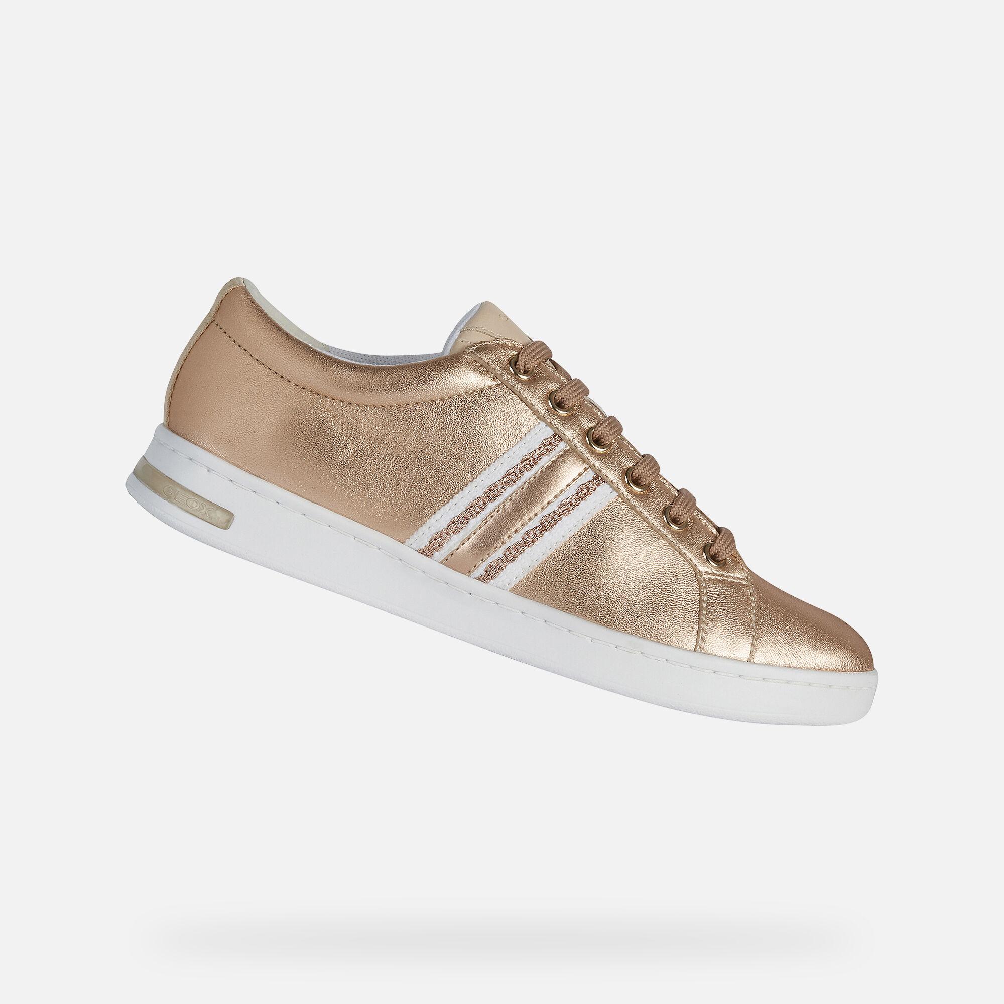 Geox JAYSEN Woman: Rose Gold Sneakers