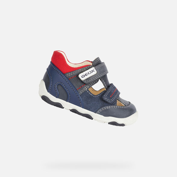 FIRST STEPS BABY GEOX NEW BALU BABY BOY - NAVY AND RED