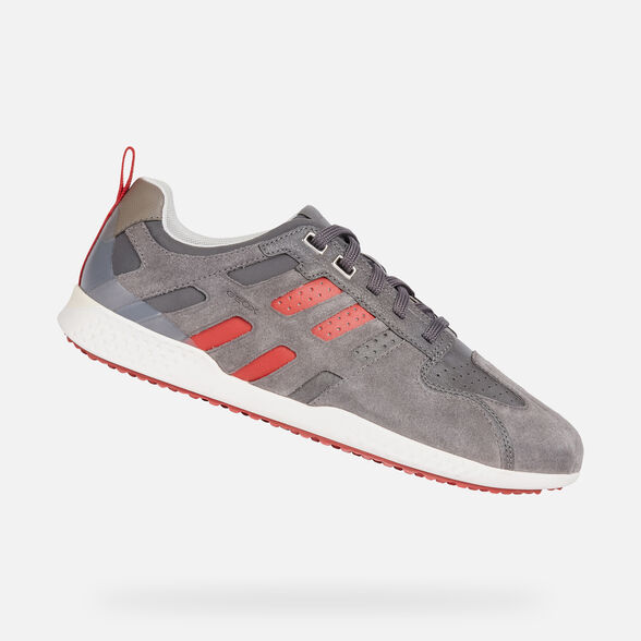 SNEAKERS MAN GEOX SNAKE.2 MAN - GREY AND RED