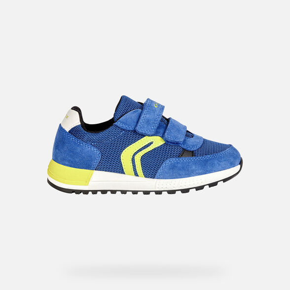 SNEAKERS BOY GEOX ALBEN BOY - ROYAL AND LIME