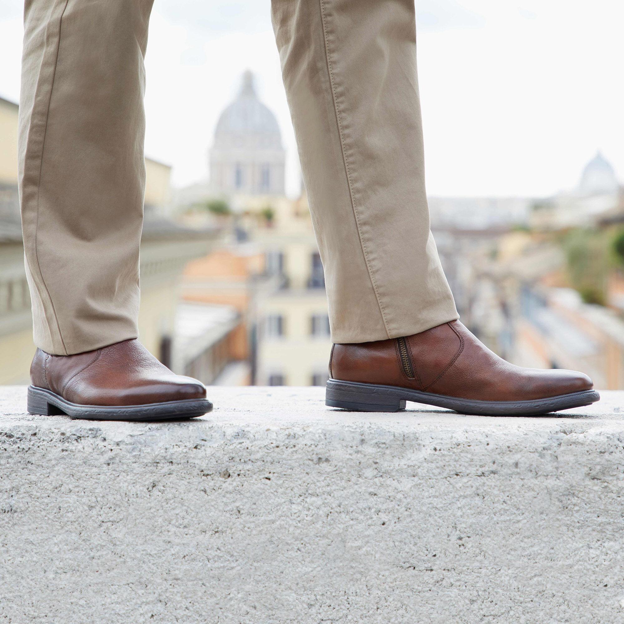 GEOX RESPIRA Genuine Leather Italian Shoes Breathing Sneakers Vintage Look