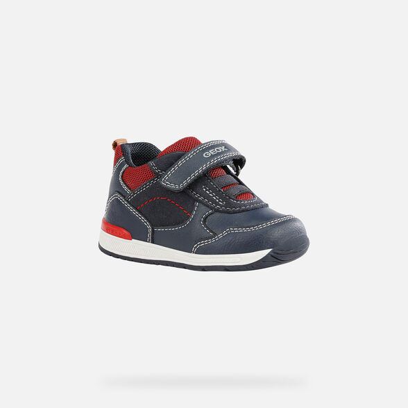 FIRST STEPS BABY GEOX RISHON BABY BOY - NAVY AND RED
