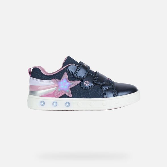 FILLE CHAUSSURES LED GEOX SKYLIN FILLE - 8