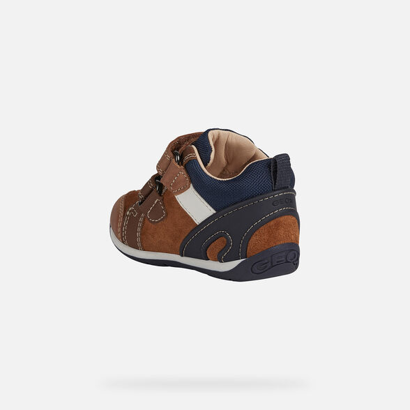 FIRST STEPS BABY GEOX EACH BABY BOY - BRANDY AND NAVY