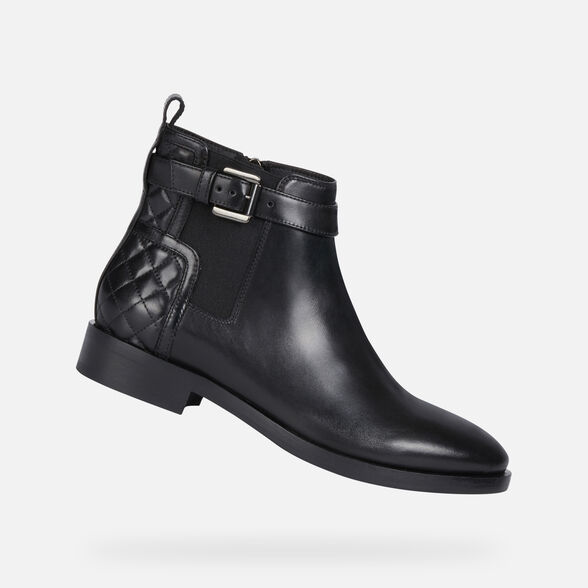 ANKLE BOOTS WOMAN GEOX BROGUE WOMAN - 1