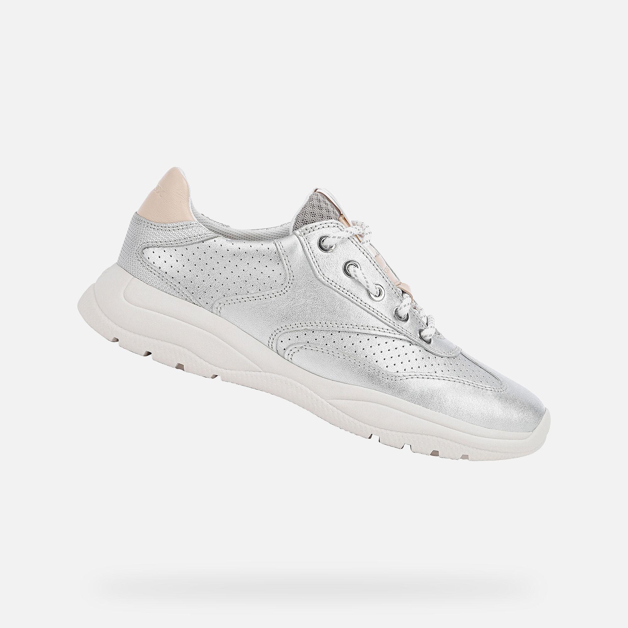 Geox SMERALDO Woman: Silver Sneakers