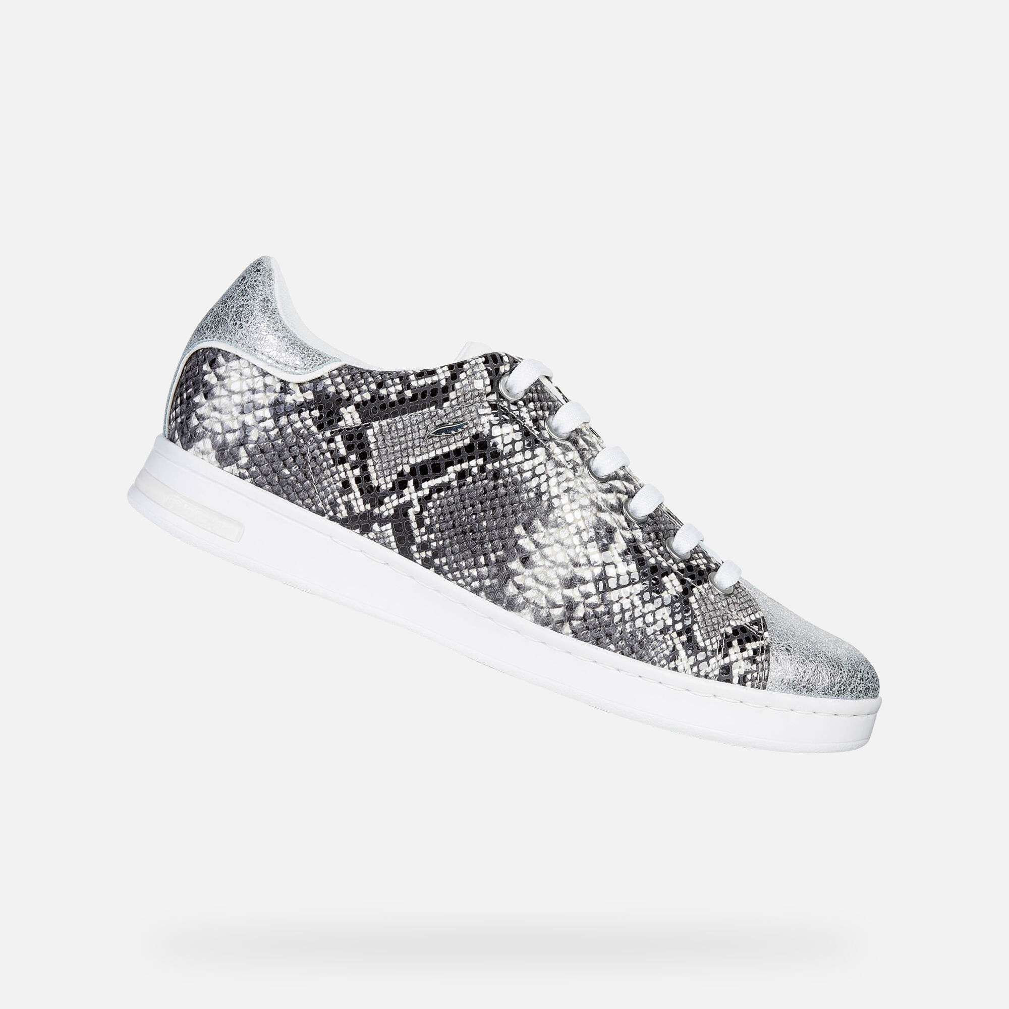 Geox D JAYSEN: Black and White Woman Sneakers | Geox SS19