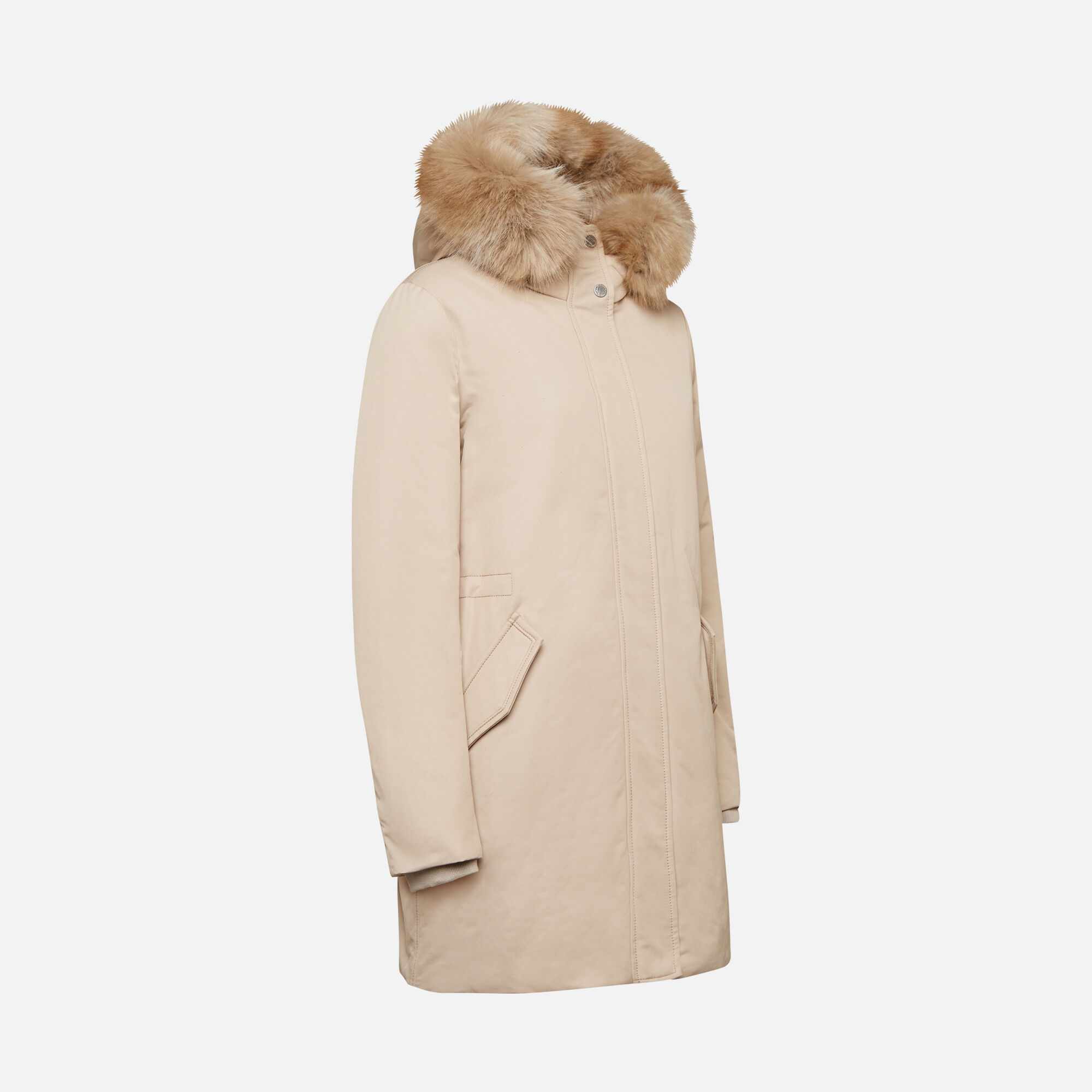 Geox CARUM Woman: Light taupe Jacket | Geox ® Official Store