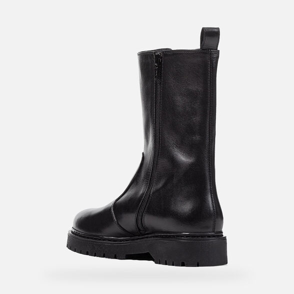 ANKLE BOOTS WOMAN GEOX BLEYZE WOMAN - BLACK