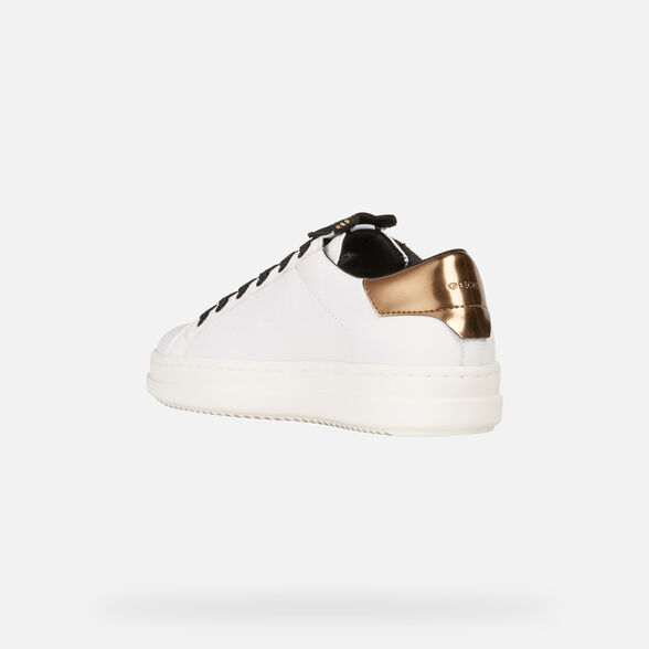 new product 0a4dd 1a9b7 Geox PONTOISE Woman: White Sneakers | Geox Fall Winter