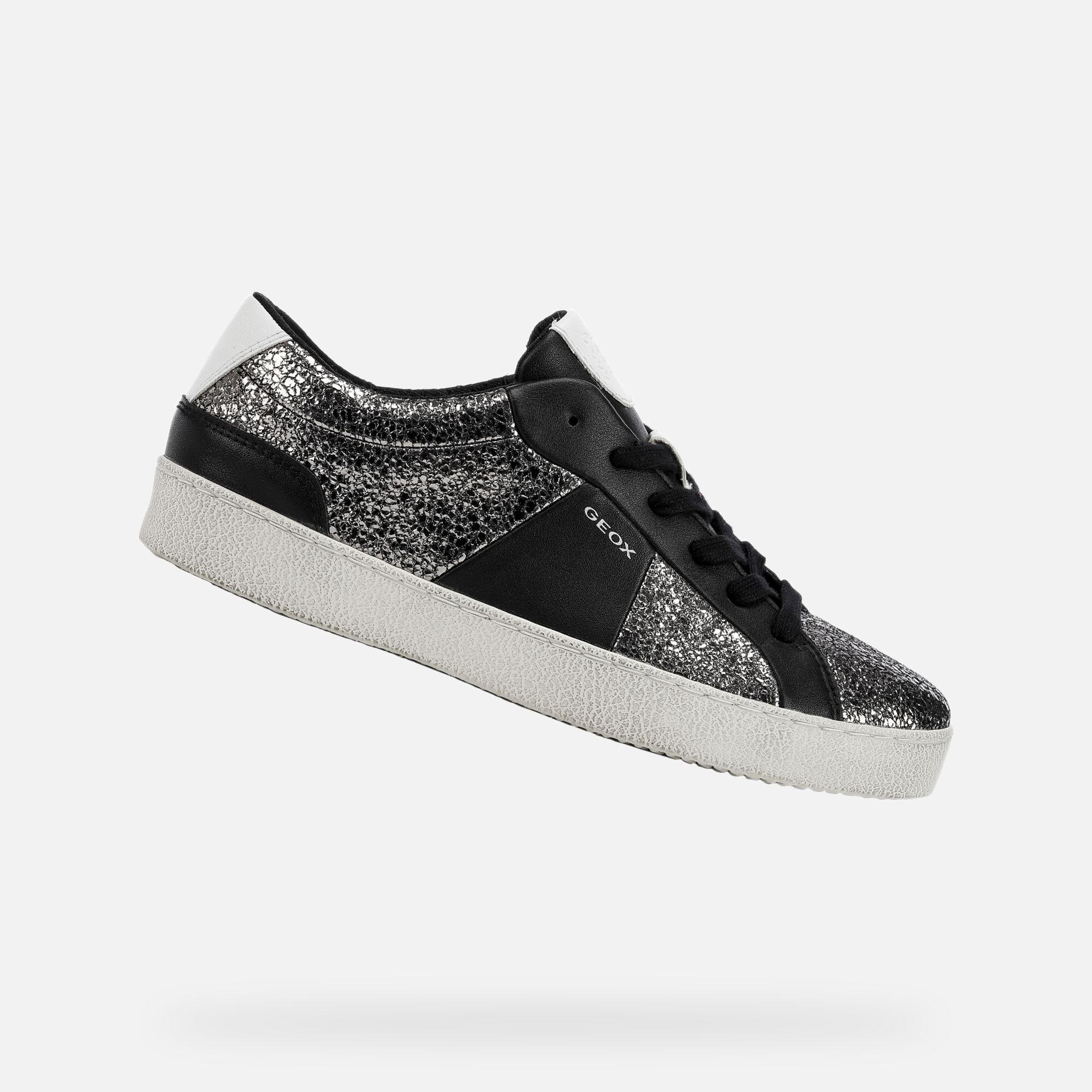 Femme Foncé Sneakers Warley Argent Geox tshQxdCr