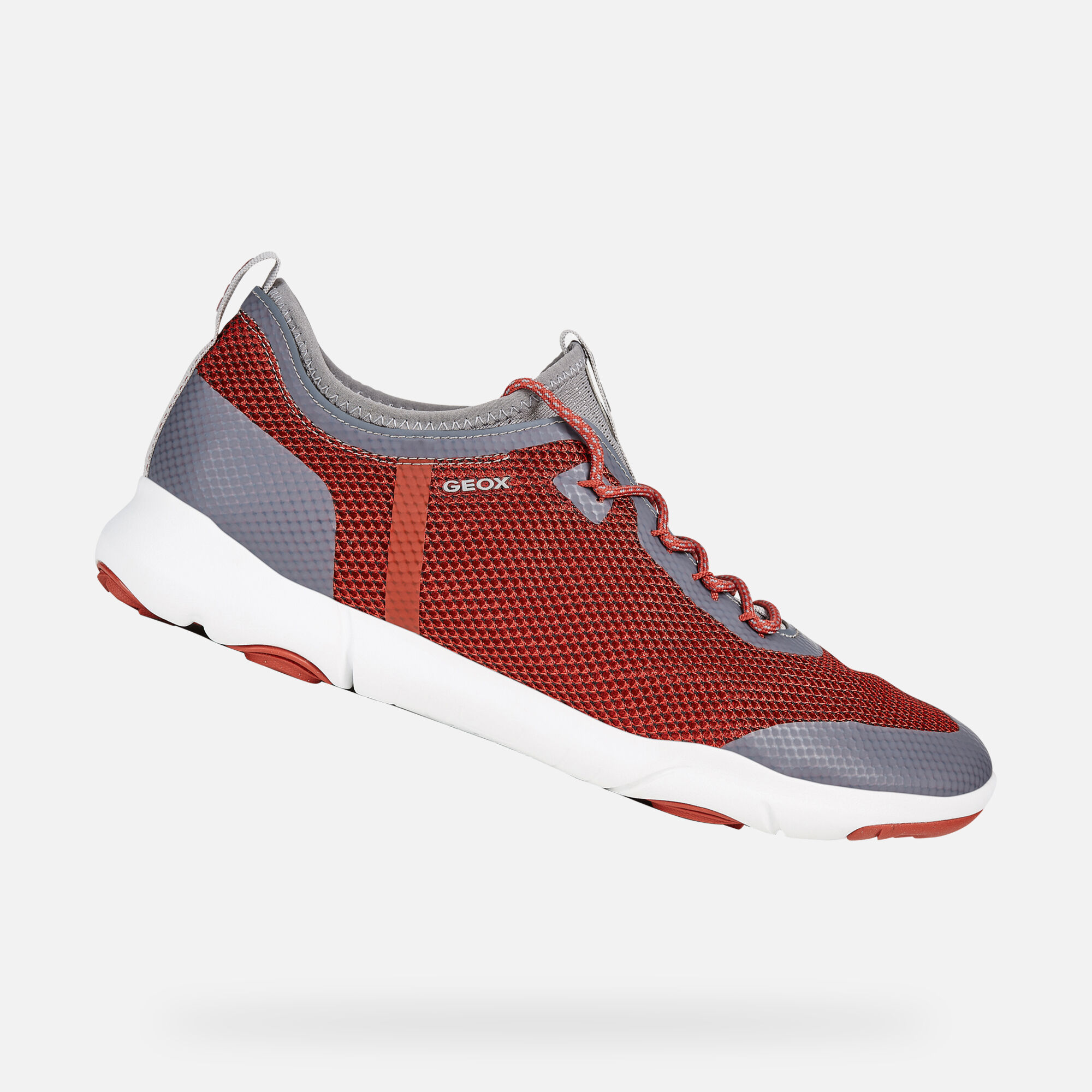 Geox U NEBULA X: Red and Grey Man Sneakers | Geox SS19