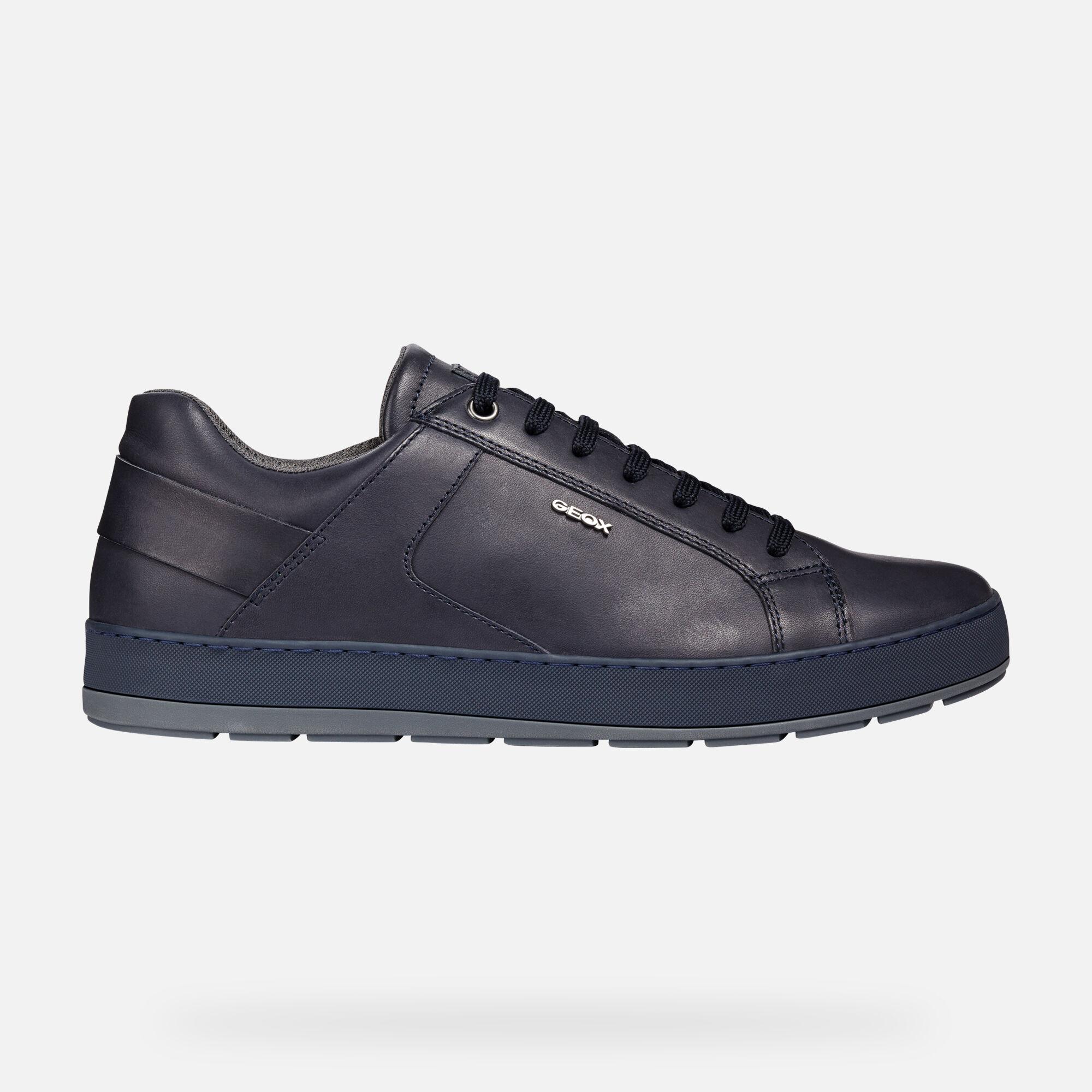 GEOX U ARIAM D Scarpe Sneaker Casual Stringhe In Pelle Da