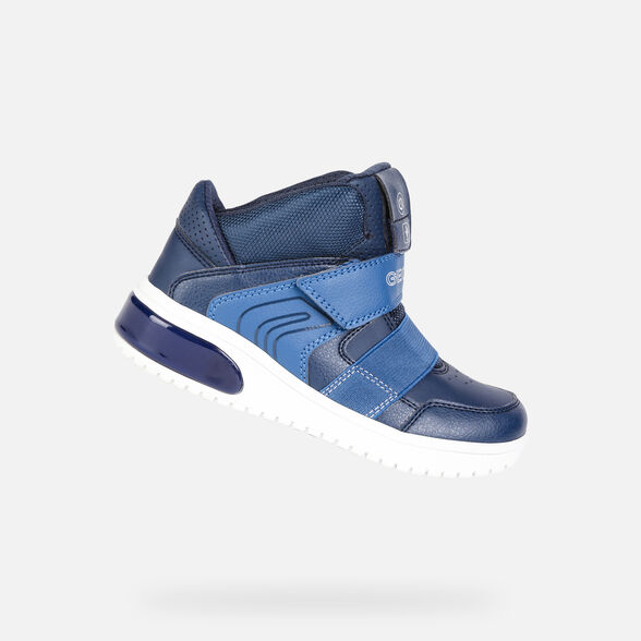 info for e5bf0 b28d5 Geox XLED Junior Boy: Blue Sneakers | Geox ® FW 19/20