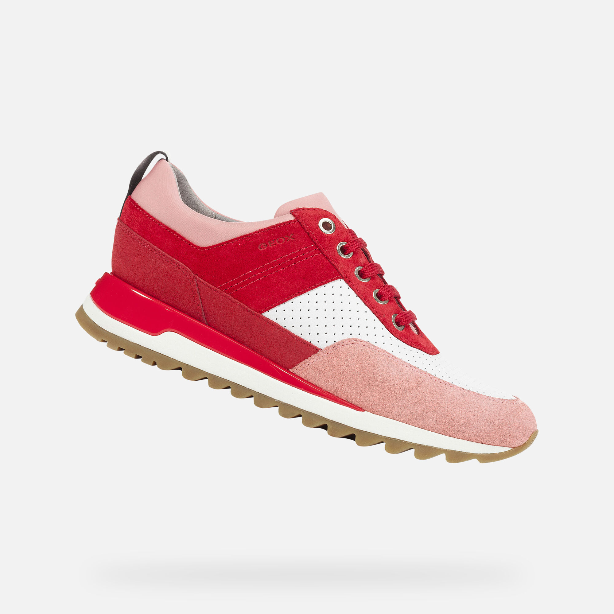 Geox D TABELYA: Red and White Woman Sneakers | Geox SS19
