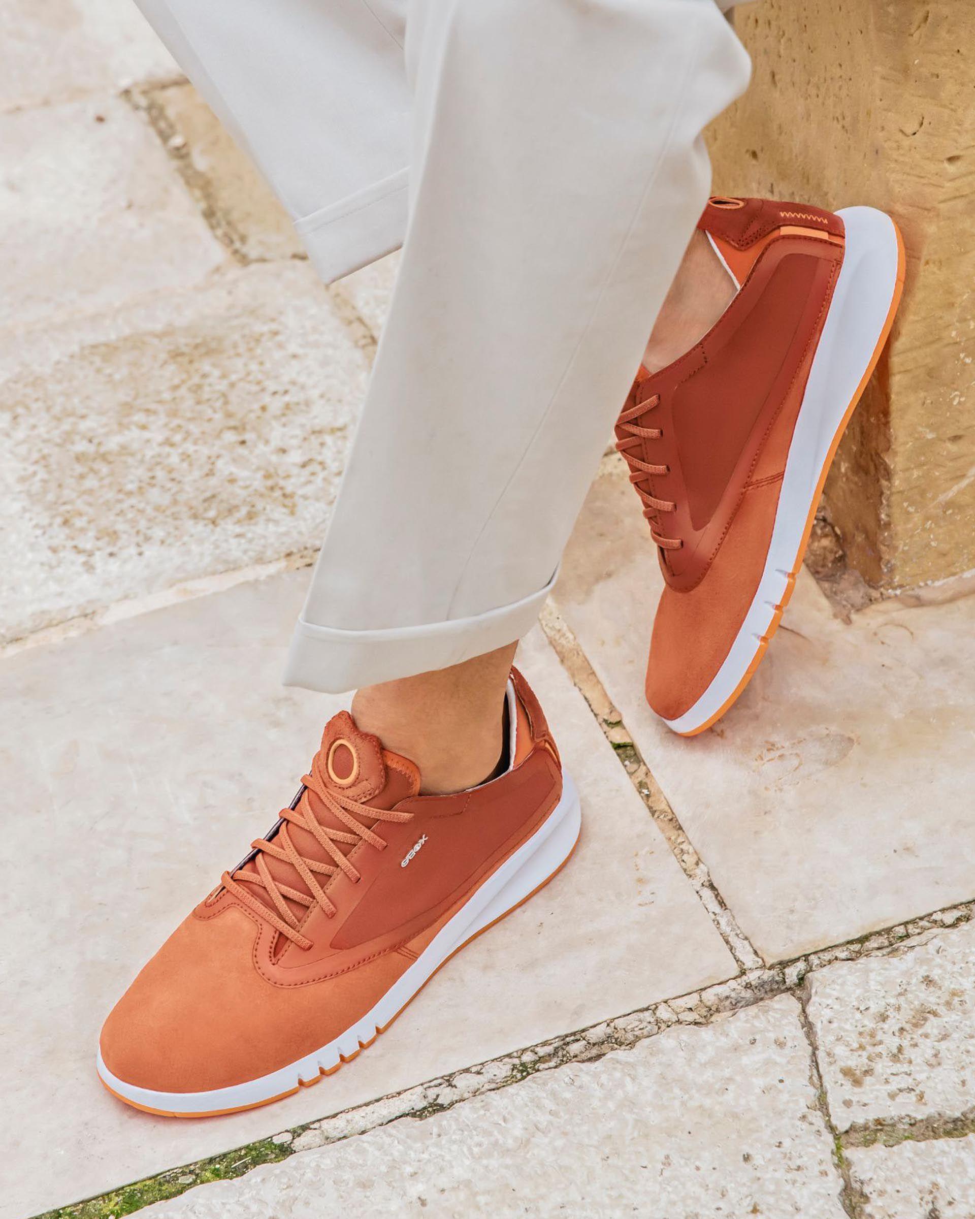 Geox AERANTIS Man: Chestnut Sneakers