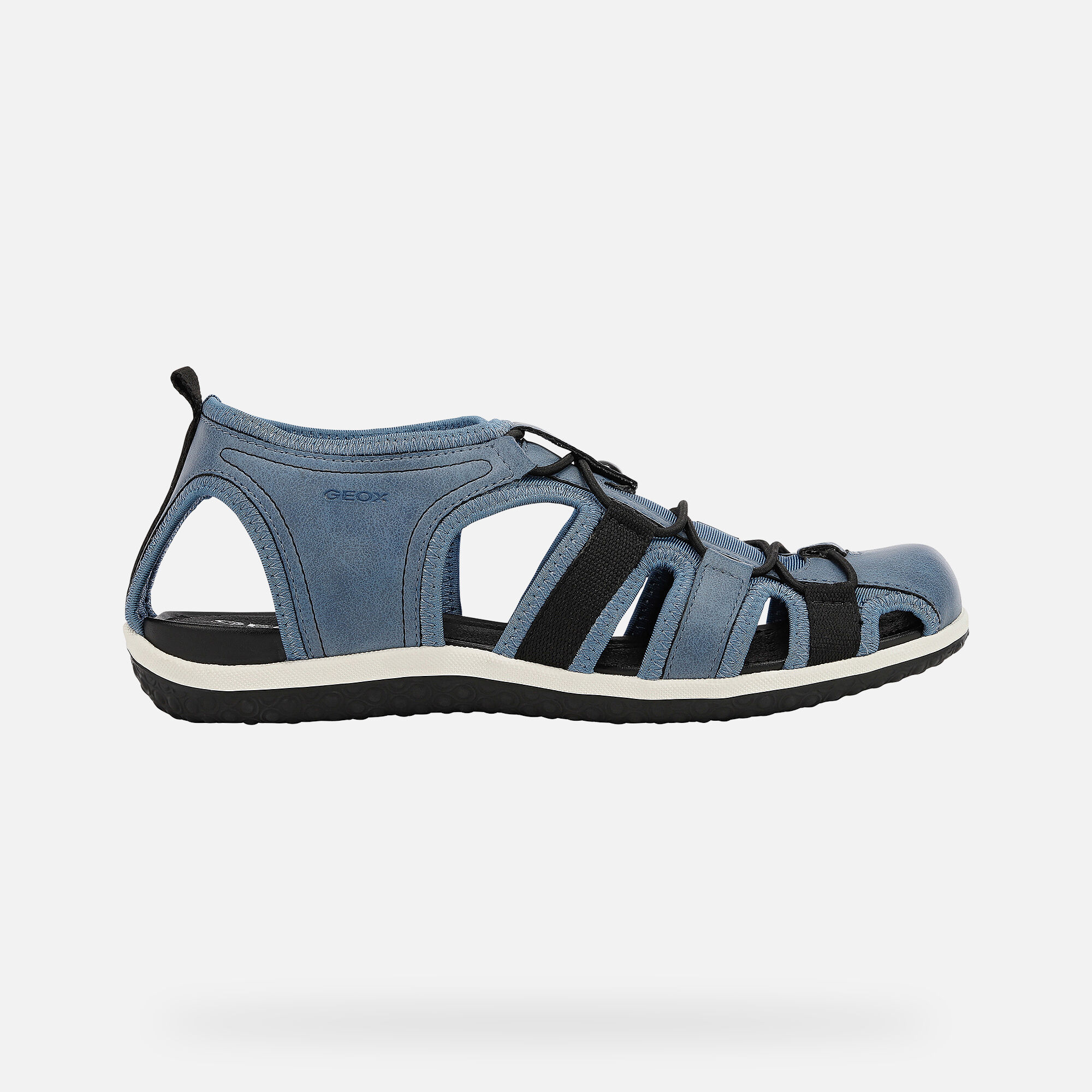 Geox VEGA DAME: Jeansblau Sandalen | Geox ® SS 20