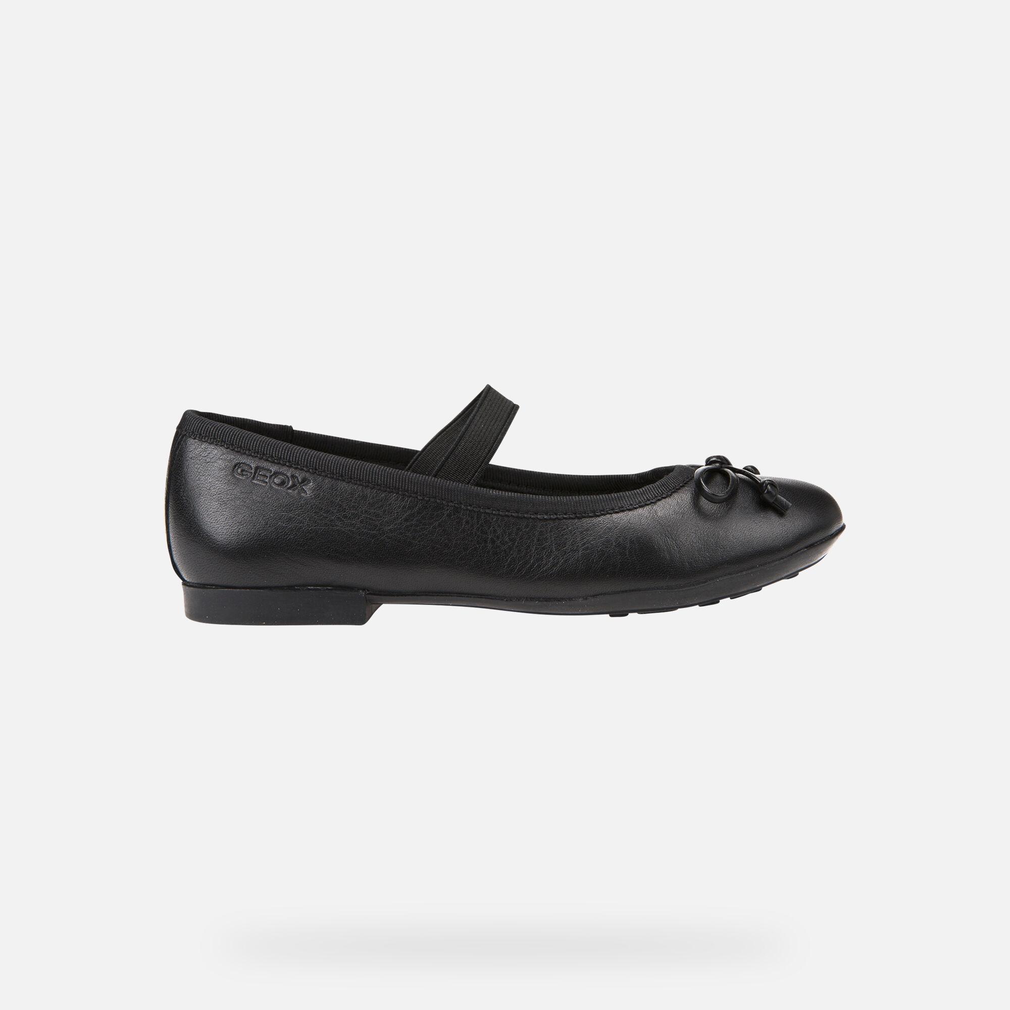 Geox PLIE' Junior Girl: Black Ballerina