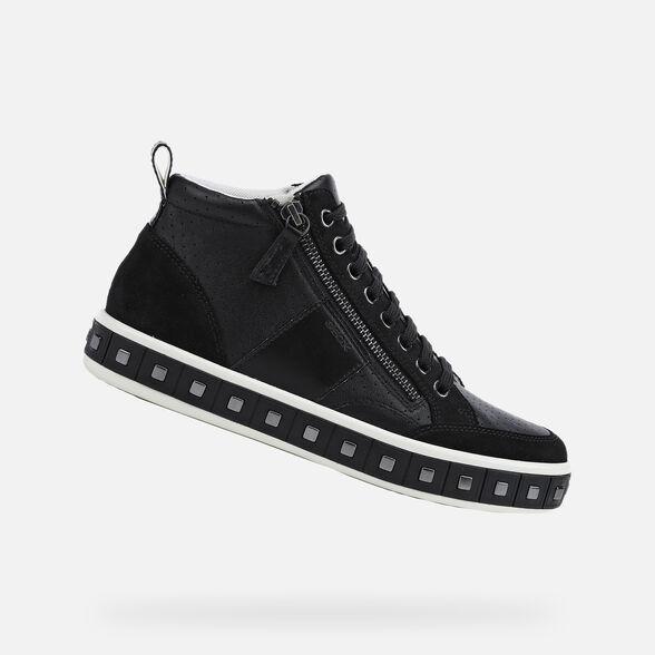 Mismo Melbourne no usado  Geox LEELU' Mujer: Sneakers Negras | Geox® Colección OI
