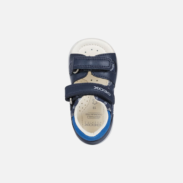 FIRST STEPS BABY GEOX ELBA BABY BOY - NAVY AND ROYAL