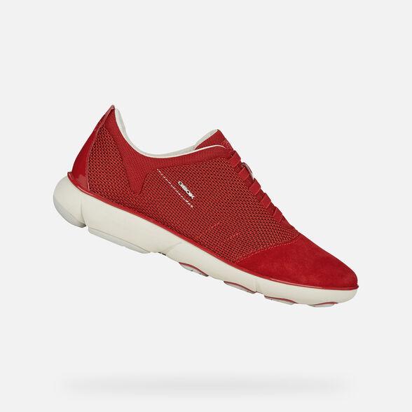 Dedos de los pies Actriz Petición  Geox NEBULA Woman: Red Sneakers | Geox® Nebula