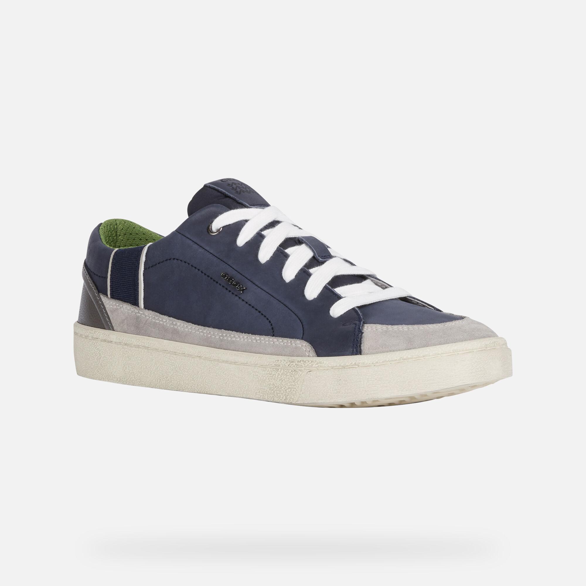 GEOX WARLEY Uomo: Sneakers Basse Blu | GEOX ® Sito Ufficiale