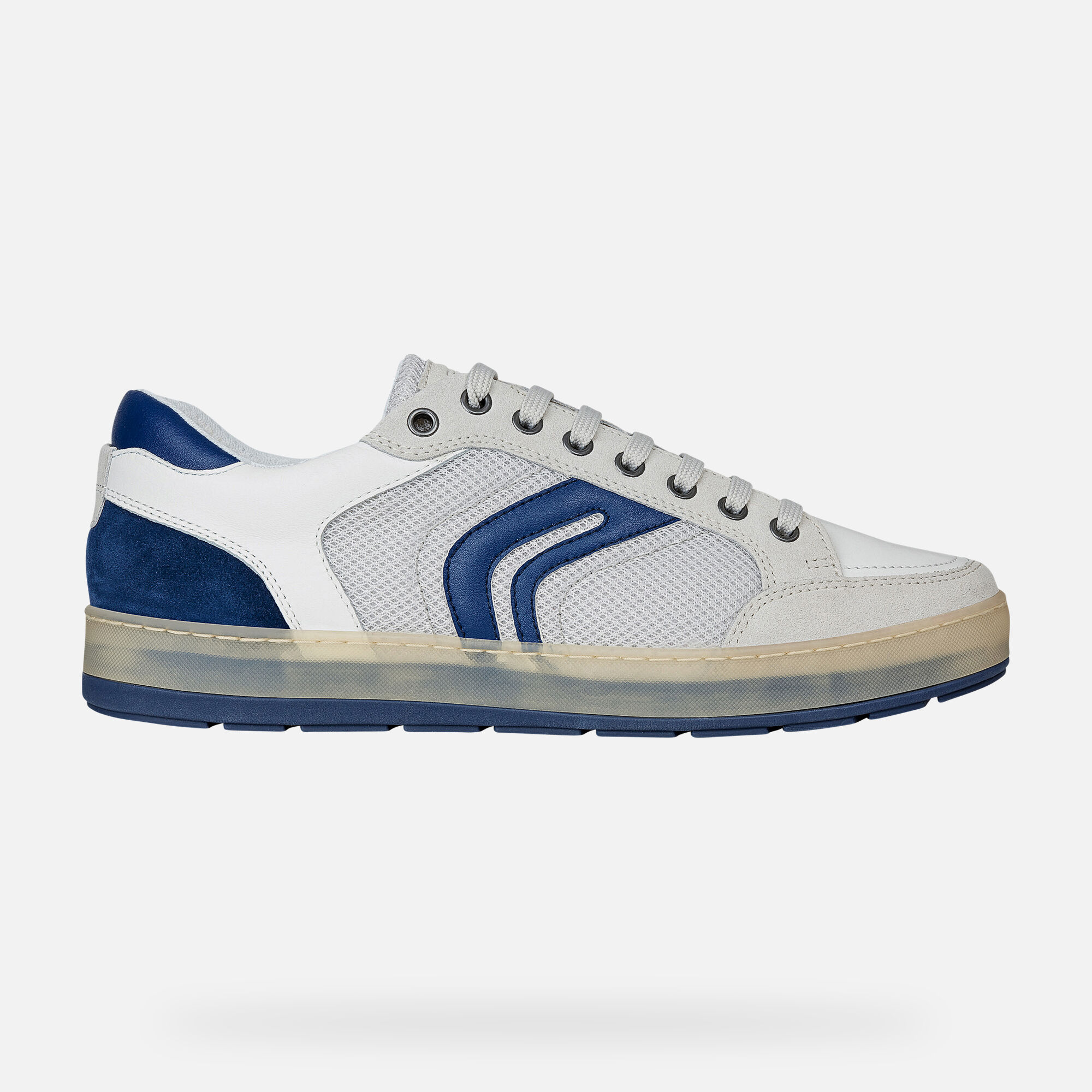 Geox U ARIAM: Papyrus and White Man Sneakers | Geox SS19