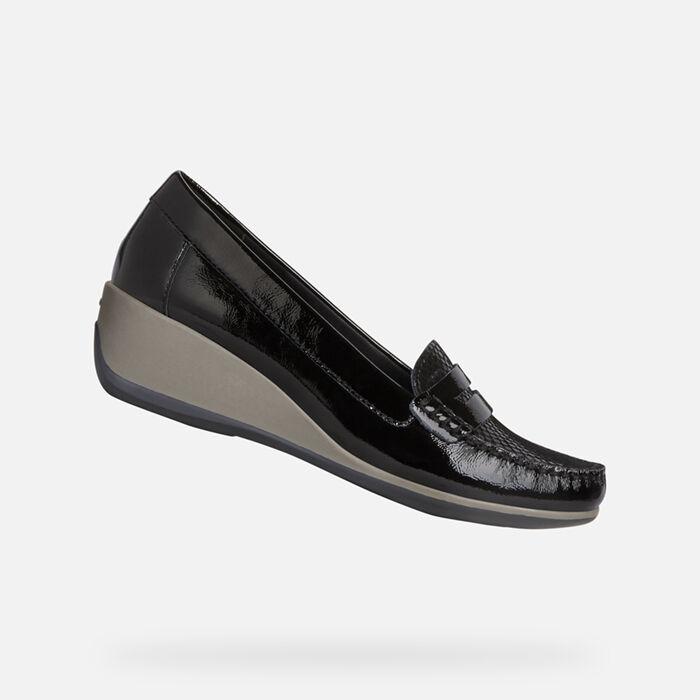 chaussures derbie femme talon compensé geox