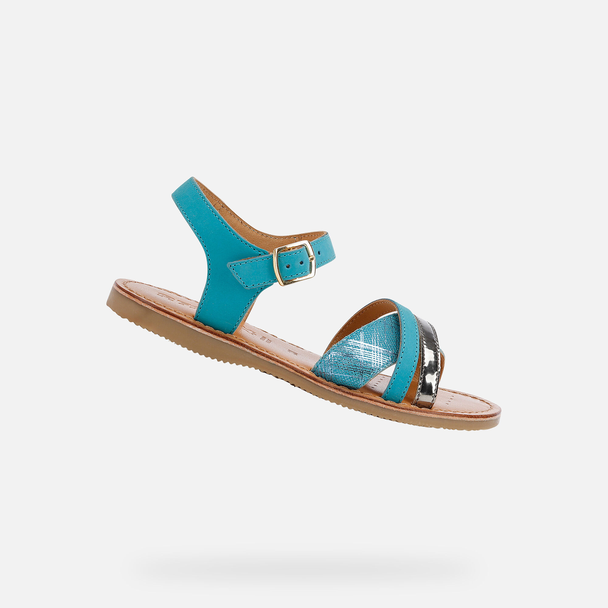 Geox EOLIE Girl: Turquoise Sandals