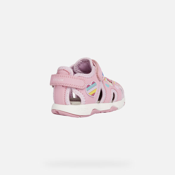 SANDALS BABY GEOX MULTY BABY GIRL - PINK AND MULTICOLOUR