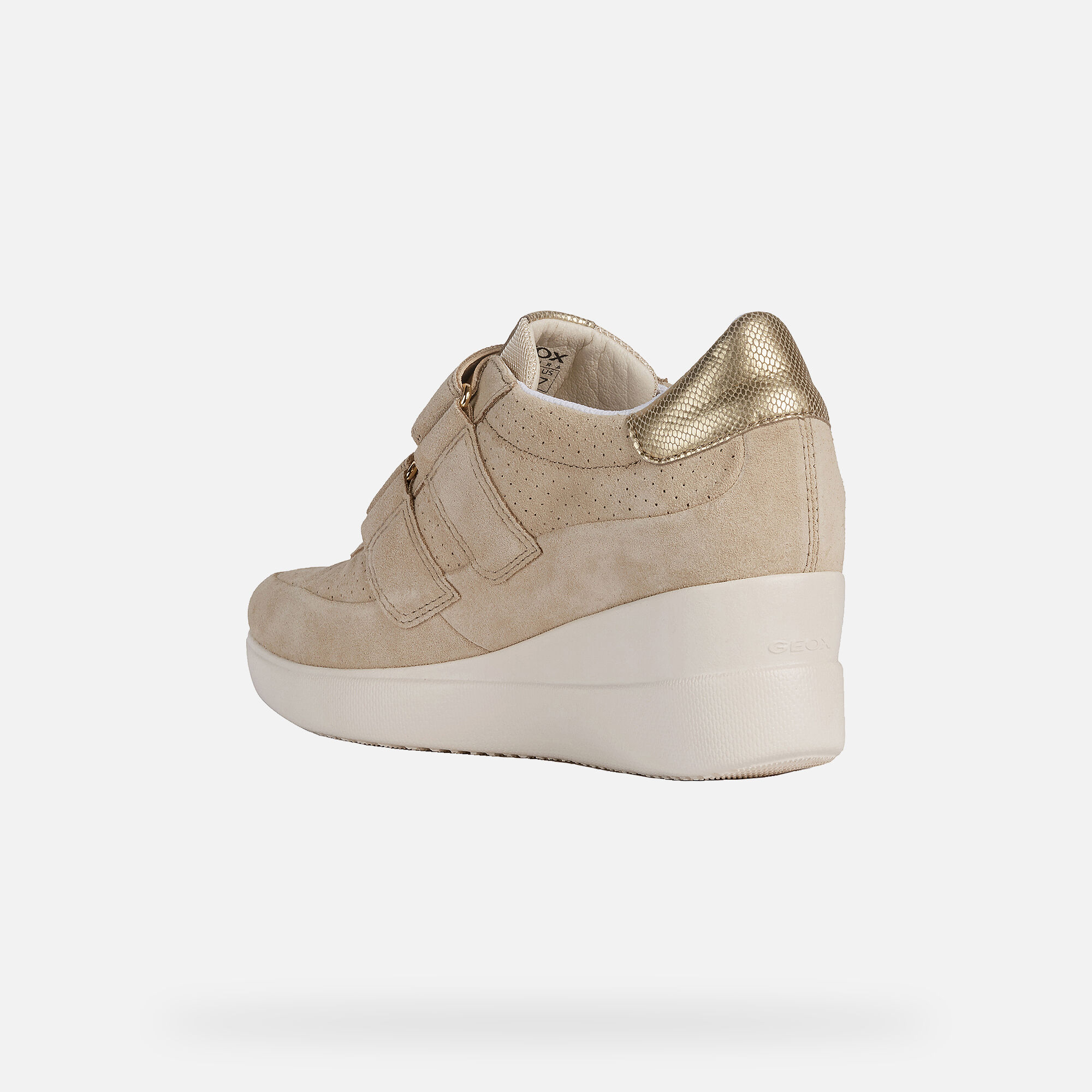Geox Respira Taupe Wedge Sneakers | Taupe wedges, Wedge