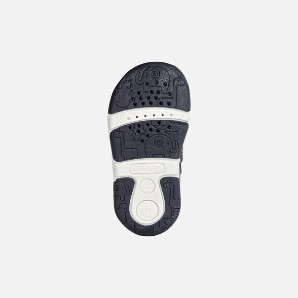 FIRST STEPS BABY GEOX TAPUZ BABY BOY - NAVY AND WHITE