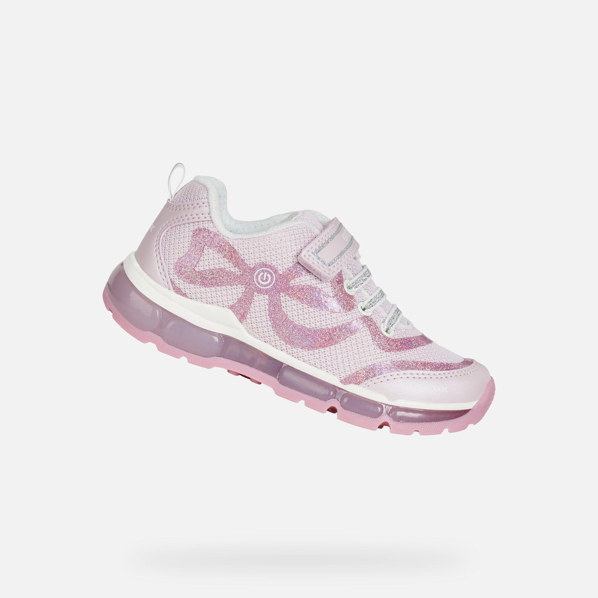Pink and Dark Pink Junior Girl Sneakers