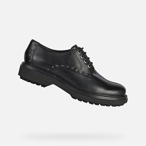 LACE UPS AND BROGUES WOMAN GEOX ASHEELY WOMAN - null