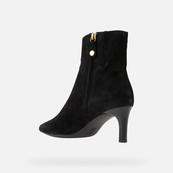 HEELED ANKLE BOOTS WOMAN GEOX BIBBIANA WOMAN - 4