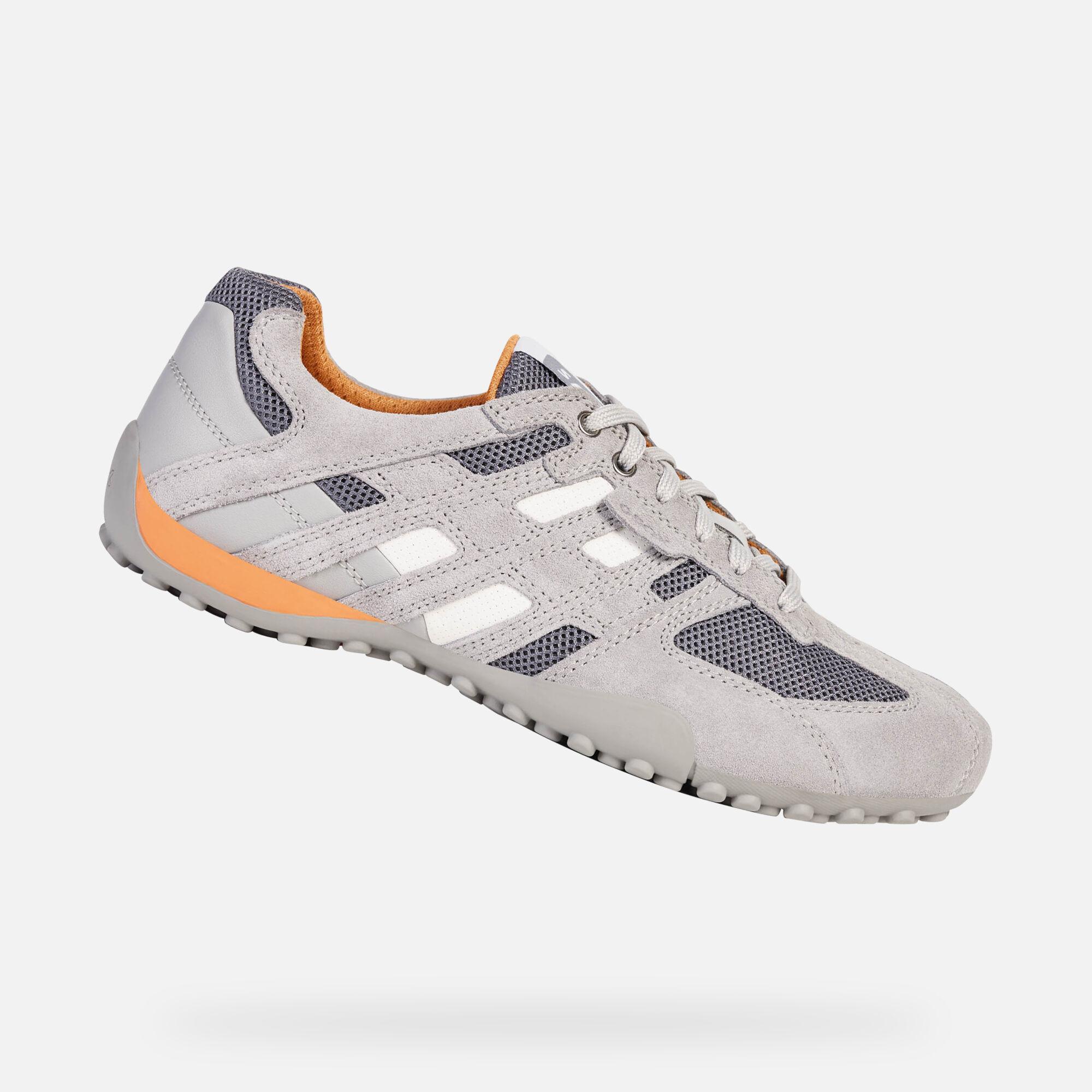 Geox SNAKE Grau Weiss Schuhe Sneaker Low Herren 69