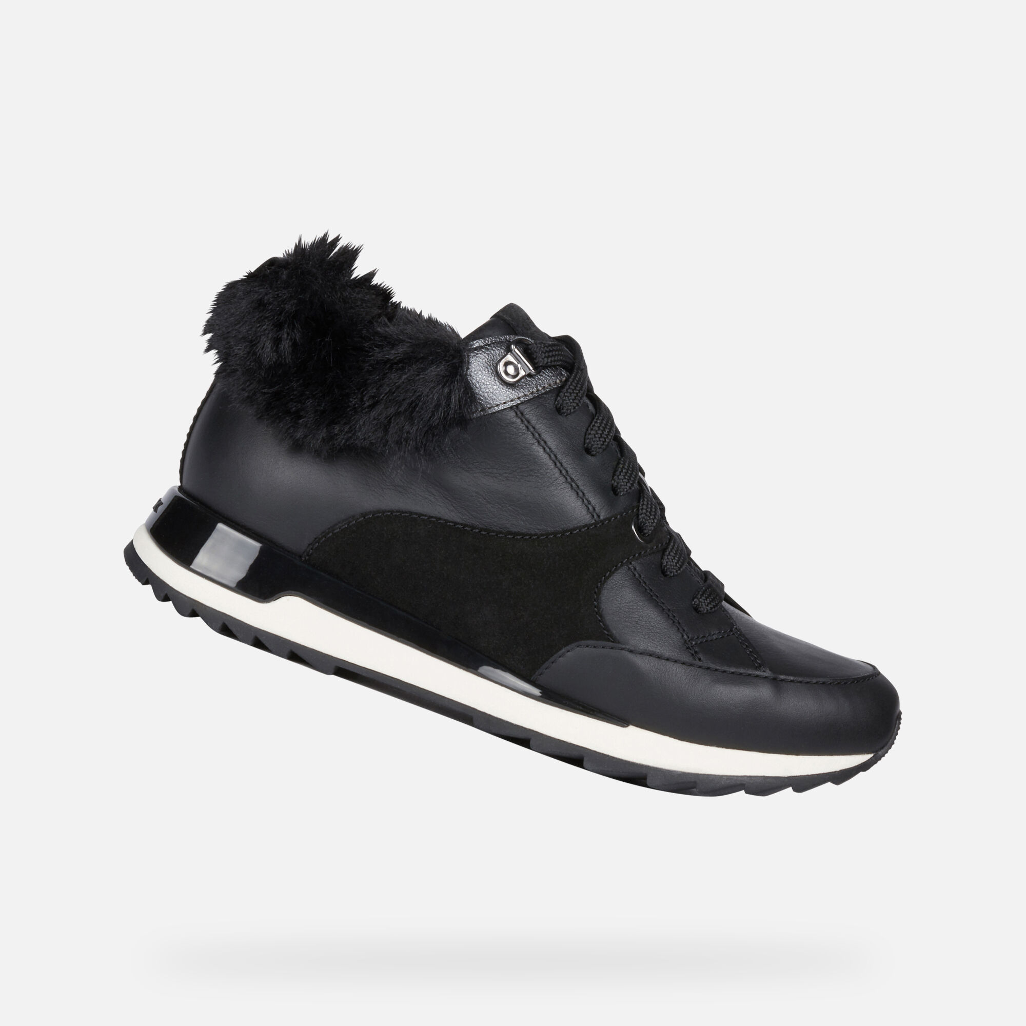 Geox ANEKO B ABX Frau: schwarze Sneakers High | Geox FW1920