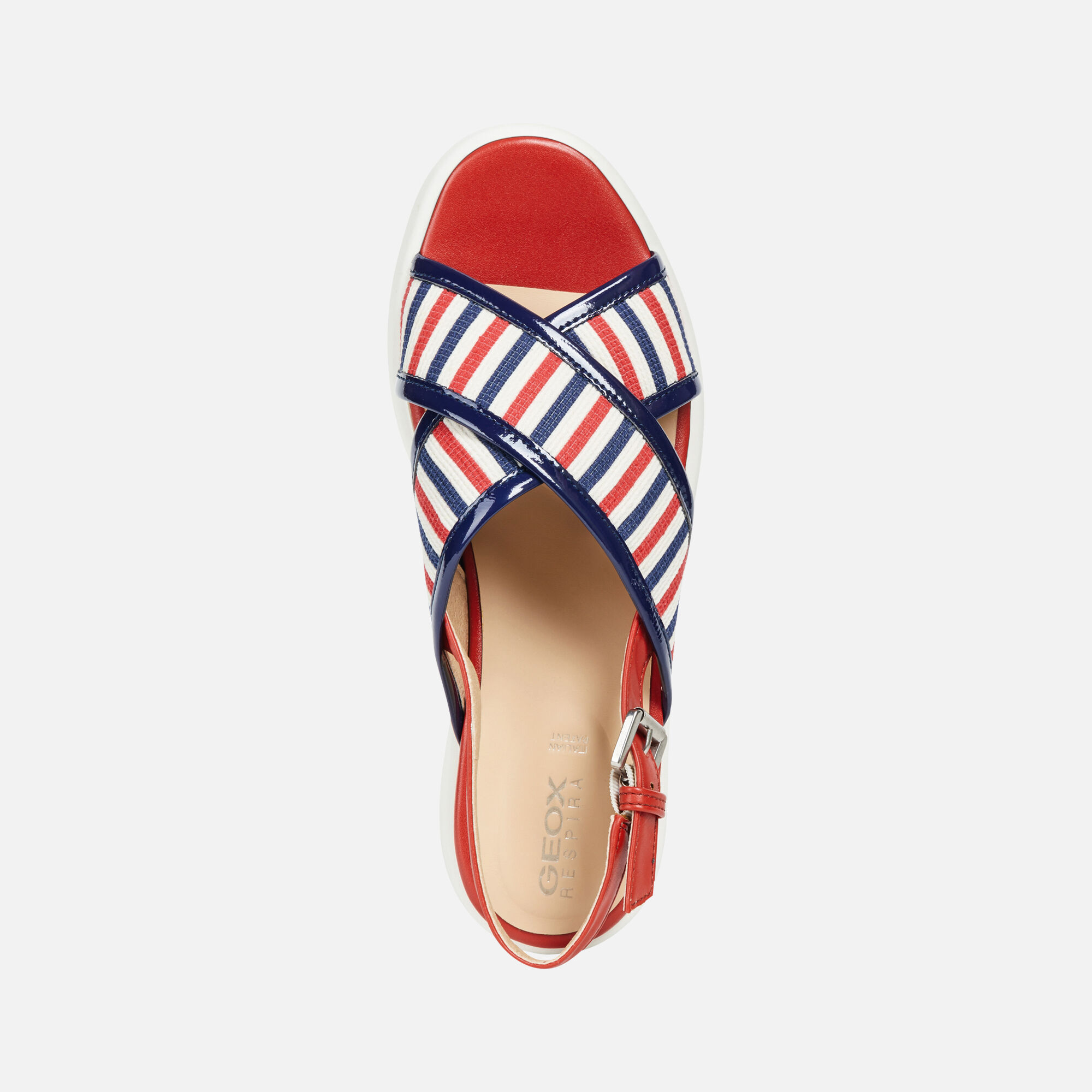 Geox D WIMBLEY SANDAL: Red and Blue Woman sandal | Geox
