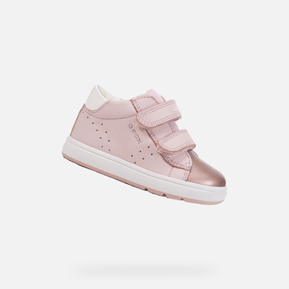 FIRST STEPS BABY GEOX BIGLIA BABY GIRL - LIGHT ROSE AND WHITE