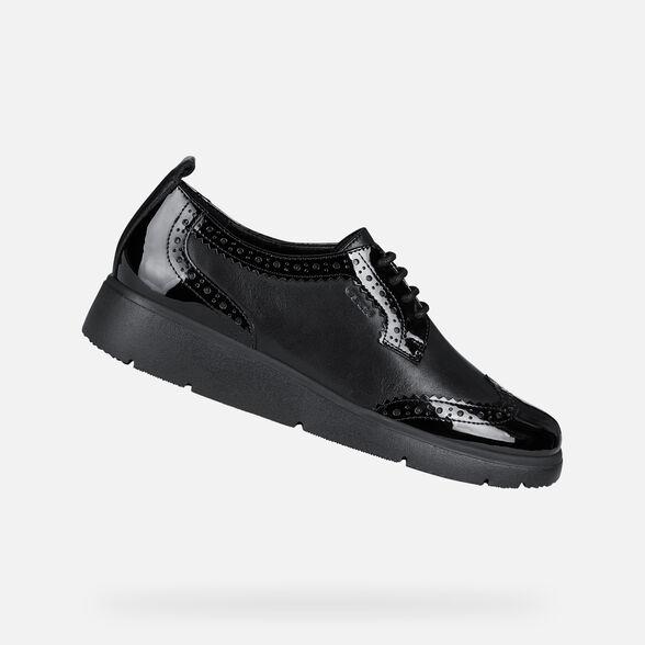 absorción Con otras bandas Honorable  Geox ARLARA Woman: Black Shoes | Geox® FW20/21