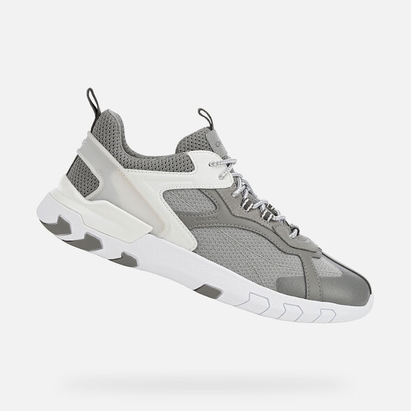 Plaga Respetuoso Pelearse  Geox GRECALE Man: Grey Sneakers | Geox® Online Official Store